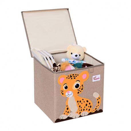 Складной ящик для игрушек с крышкой. Тигр