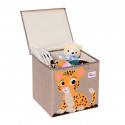 Складной ящик для игрушек с крышкой. Тигр.