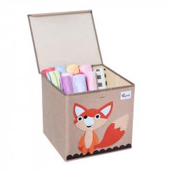 Складной ящик для игрушек с крышкой. Лис.