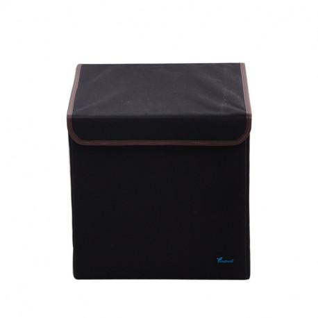 Складной ящик с крышкой. Черный.