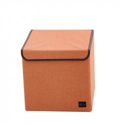 Складной ящик с крышкой. Оранжевый.