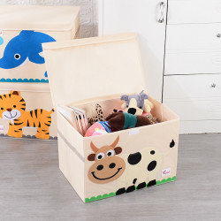 Складной ящик для игрушек с крышкой. Корова.