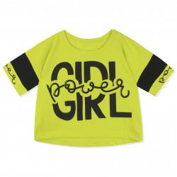 Футболка для девочки, топ, салатовая. Power Girl.