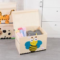 Складной ящик для игрушек с крышкой. Пчелка