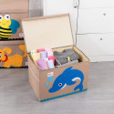 Складной ящик для игрушек с крышкой. Дельфин