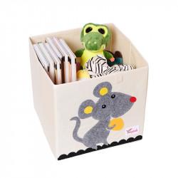 Складной ящик для игрушек. Мышка.