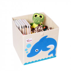 Складной ящик для игрушек. Дельфин.