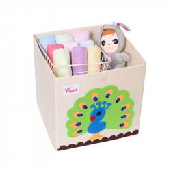 Складной ящик для игрушек. Павлин.