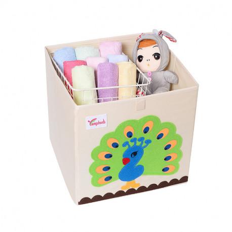 Складной ящик для игрушек. Павлин