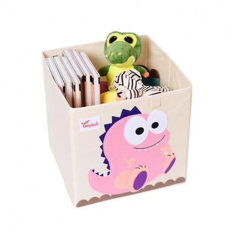 Складной ящик для игрушек. Динозавриха