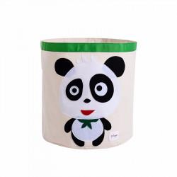 Корзина для игрушек, белая. Панда.