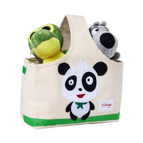 Сумка для игрушек с ручкой. Панда.