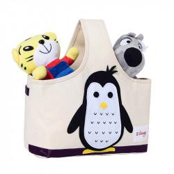 Сумка для игрушек с ручкой. Пингвин.