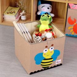 Складной ящик для игрушек, коричневый. Пчелка.