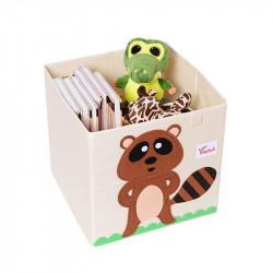 Складной ящик для игрушек. Енот.