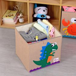 Складной ящик для игрушек, коричневый. Дино.