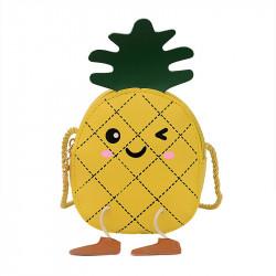 Сумка детская, желтая. Веселый ананас.