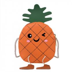 Сумка детская, оранжевая. Веселый ананас.