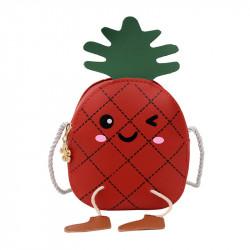 Сумка детская, красная. Веселый ананас.