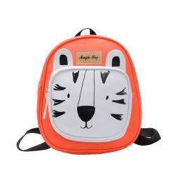 Детский рюкзак, оранжевый. Белый тигр.
