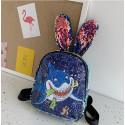 Рюкзак детский с ушками, с паетками перевертышами. Акула-хищник.