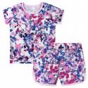 Пижама для девочки, фиолетовая. Импрессионизм.