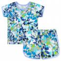 Пижама для девочки, синяя. Импрессионизм.