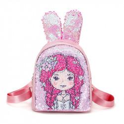 Рюкзак детский, с паетками перевертышами. Девочка.