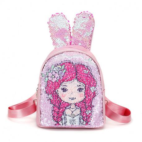 Рюкзак детский, с паетками перевертышами. Девочка