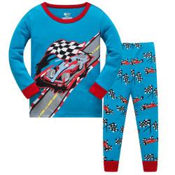 Пижама для мальчика, голубая. Формула-1.