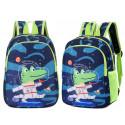 Детский рюкзак, синий. Крокодил-космонавт.