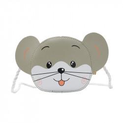 Сумка детская, серая. Мышка.