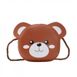 Сумка детская, коричневая. Медвежонок.