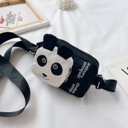 Сумка детская, черная. Панда.