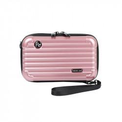 Сумка кросс-боди каркасная, розовая. Travel.