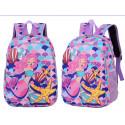 Детский рюкзак, фиолетовый. Русалка и ракушки.