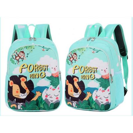 Детский рюкзак, мятный. Король леса.