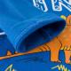 Кофта для мальчика, синяя. Оранжевый стегозавр.
