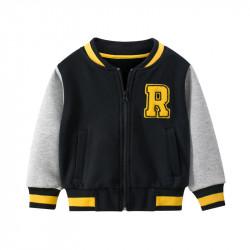 "Утепленная кофта для мальчика, бомбер, черный. Команда ""R""."