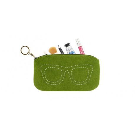 Чехол для очков, телефона, косметичка, зеленый. Очки.