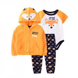Комплект детский 3 в 1, оранжевый. Маленький лисенок.