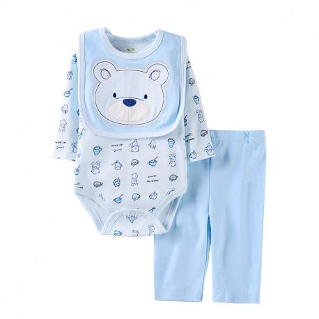 Набор для мальчика 3 в 1, голубой. Ласковый мишка.