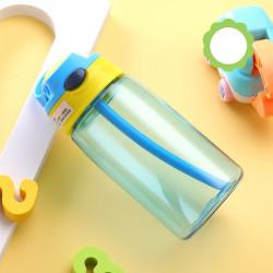 Бутылка пластиковая, поильник, голубая. Summer. 480 мл.