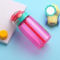 Бутылка пластиковая, поильник, розовая. Summer. 480 мл.