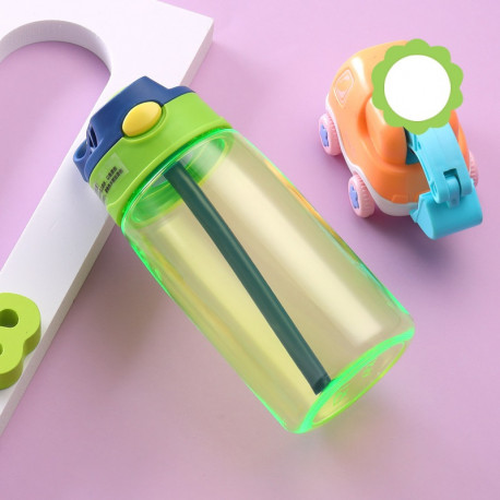 Бутылка пластиковая, поильник, зеленая. Summer. 480 мл.