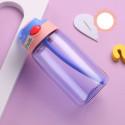 Бутылка пластиковая, поильник, фиолетовая. Summer. 480 мл.