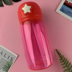 Бутылка пластиковая, поильник, красная. Star. 480 мл.