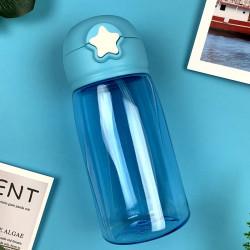 Бутылка пластиковая, поильник, синяя. Star. 480 мл.