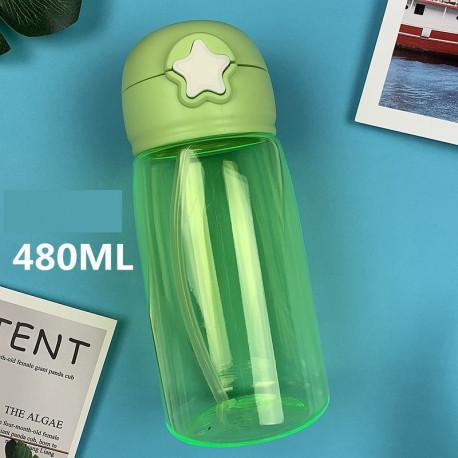 Бутылка пластиковая, поильник, зеленая. Star. 480 мл.