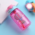 Бутылка детская пластиковая, поильник, розовая. Воздушный шар. 480 мл.